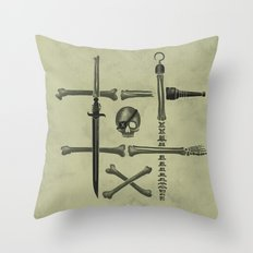 Noughts & Crossbones Throw Pillow