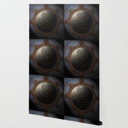 Steampunk Moon Clock Time Metal Gears Wallpaper