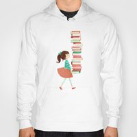 library Hoodies featuring Library Girl by Stephanie Fizer Coleman