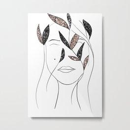 Glitter Lady #3 #minimal #line #art #society6 Metal Print