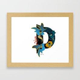 D (Initial  Series A-Z)  Framed Art Print