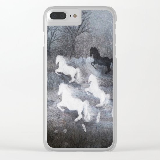 Five Horses and a Fox Clear iPhone Case