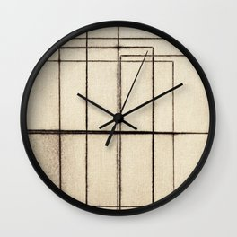 Toner Lines on Paper Wall Clock