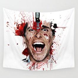 American Psycho Patrick Bateman serial killer digital artwork Wall Tapestry