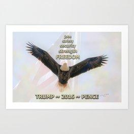 Trump Eagle Flies High In 2016  Art Print
