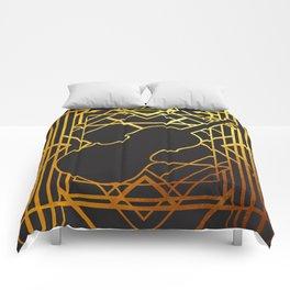 Art Deco Violin Comforters