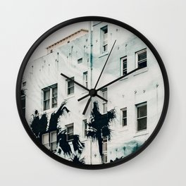 palm mural venice i Wall Clock