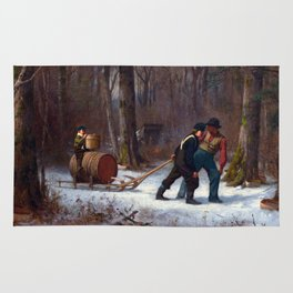 Eastman Johnson On Their Way to Camp Rug