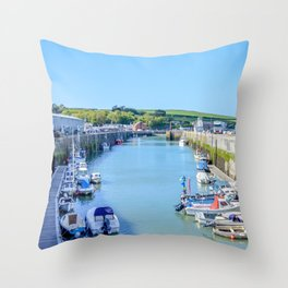 Padstow - Boat Pound (Full View) Throw Pillow