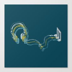 Plug in the music Canvas Print