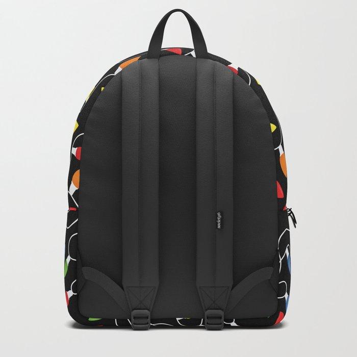 Endless Christmas Lights (On Black) Backpack