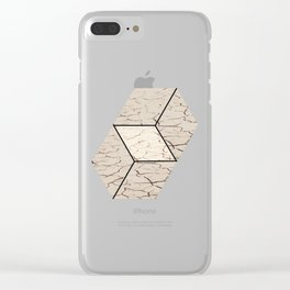 Earth hexagon abstract - Earth sign - The Five Elements Clear iPhone Case