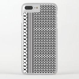 Shimagh plain Clear iPhone Case