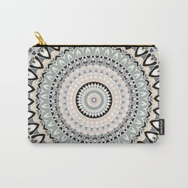 Black and Pastel Mandala Carry-All Pouch