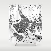 rome Shower Curtains featuring ROME by Maps Factory