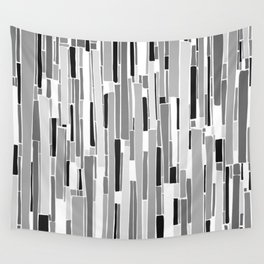Stacked BW Wall Tapestry