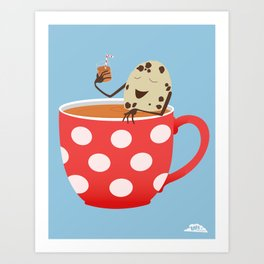 Relax. Don't Crumble! Art Print