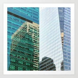 New York Architecture Reflection Art Print