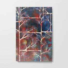 Woven Into Branches Metal Print