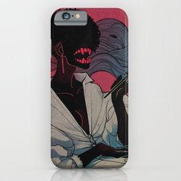 Smoking girl clr iPhone Case