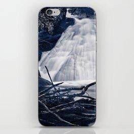 Glowing Midnight Waterfall iPhone Skin