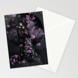 Bakeneko and Kitsune under the Sakura Tree Stationery Cards
