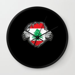 Lebanon Beirut Flag Proud Wall Clock