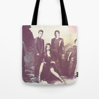 vampire diaries Tote Bags featuring The Vampire Diaries TV Series by Nechifor Ionut