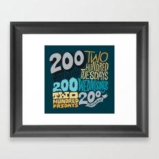 1000  Framed Art Print