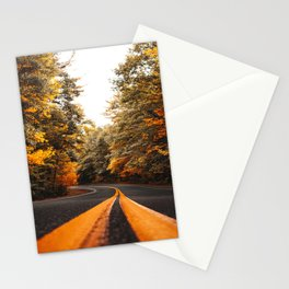 on the road in vermont Stationery Cards