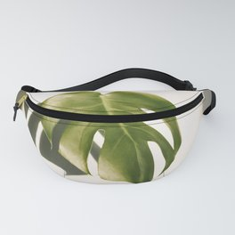 Swiss cheese plant leaf Fanny Pack