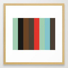 Pattern that spells ABSTRACT Aquamarine Black Sepia Taupe Red Aquamarine Cyan Taupe Framed Art Print