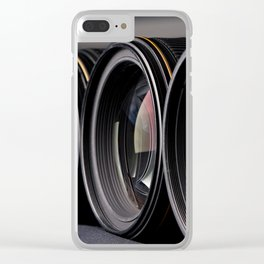 Row of photo lenses Clear iPhone Case