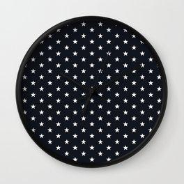 Superstars White on Black Small Wall Clock