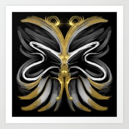 Abstract -Tiger Butterfly Art Print