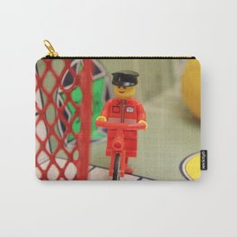 Legoman Traveling on Bicycle Carry-All Pouch