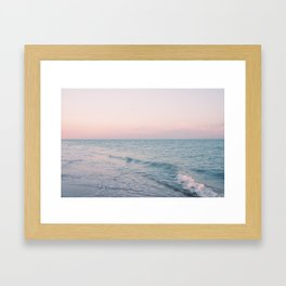 Pink and Turquoise Framed Art Print