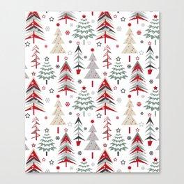 Fairy Christmas forest. Canvas Print
