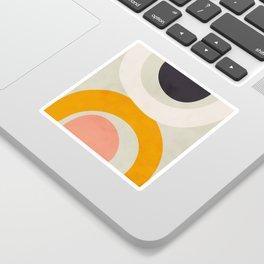 abstract modern geometric art Sticker