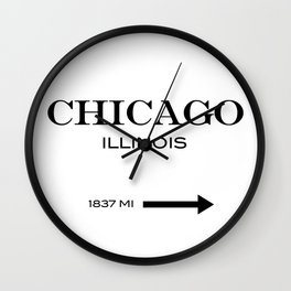 Chicago - Illinois Wall Clock