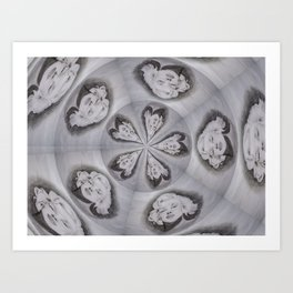 Norma Spins in Silver Art Print