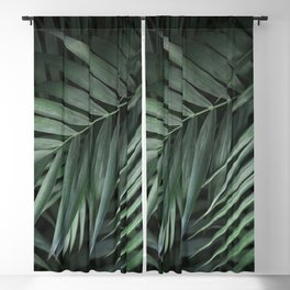 Elegant Green Tropical Leaves Blackout Curtain