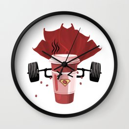 Super Strong Coffee Wall Clock