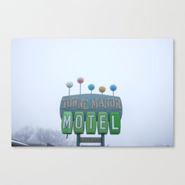 Towne Manor Motel Canvas Print