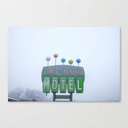 Towne Manor Motel Canvas Print