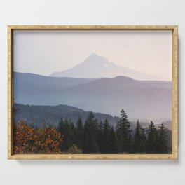 Mount Hood over the Columbia River Gorge Serving Tray