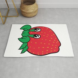 "Cute unique and luscious ""Strawberry Crab"" tee design. Perfect gift this holiday too for your family Rug"