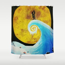 Simply Meant To Be - Nightmare Before Christmas Fan Art Shower Curtain