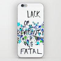 creativity iPhone & iPod Skins featuring Creativity by Bianca Iarrobino