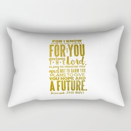 HIS PLANS FOR ME GOLD Rectangular Pillow